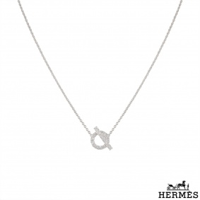 Hermès White Gold Diamond Finesse Necklace